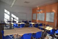 Classroom smart boards, white boards