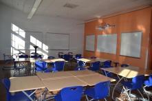 Classroom smart boards, white boards